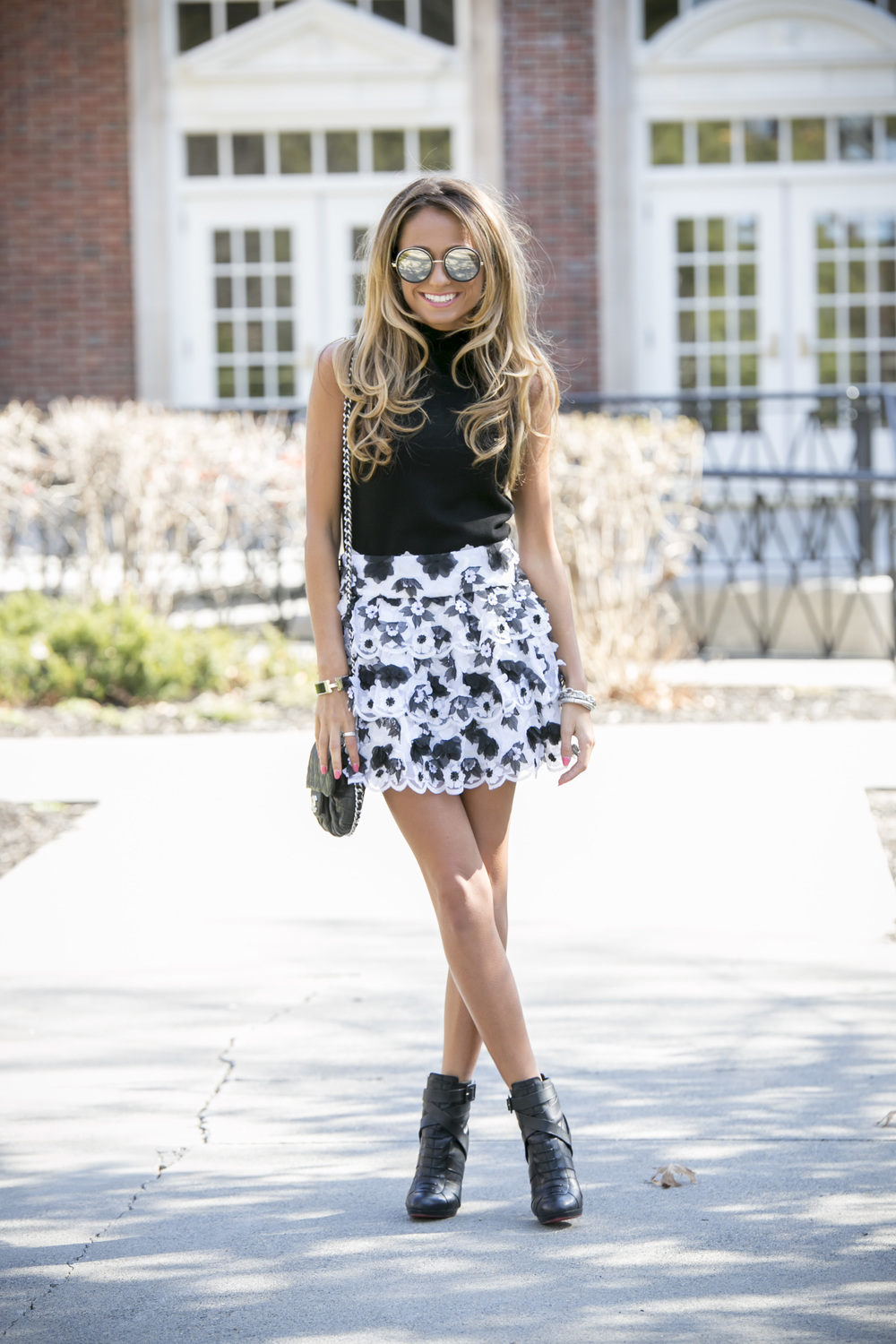 Alice and Olivia skirt worn by fashion blogger North of Manhattan
