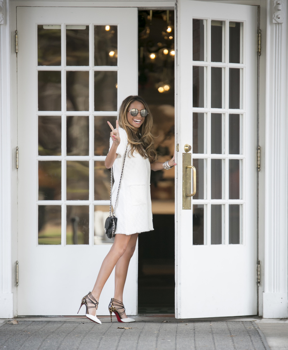 Dress: JOA |Pumps:Christian Louboutin|Sunnies: Jimmy Choo     Dino Petrocelli Photography