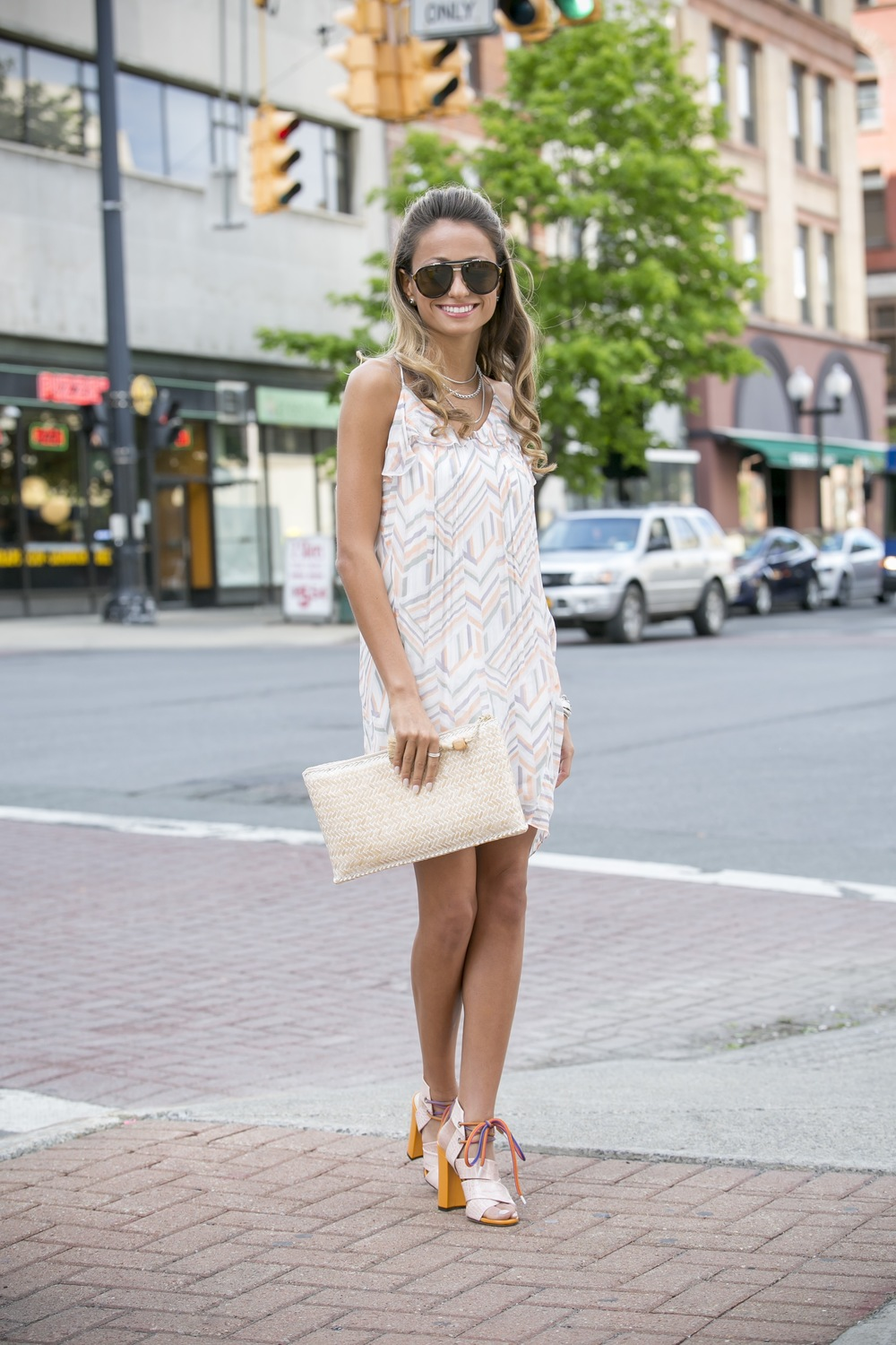 Dress: Rebecca Minkoff | Sandals:MSGM |Clutch:J.Crew ( similar )    Dino Petrocelli Photography