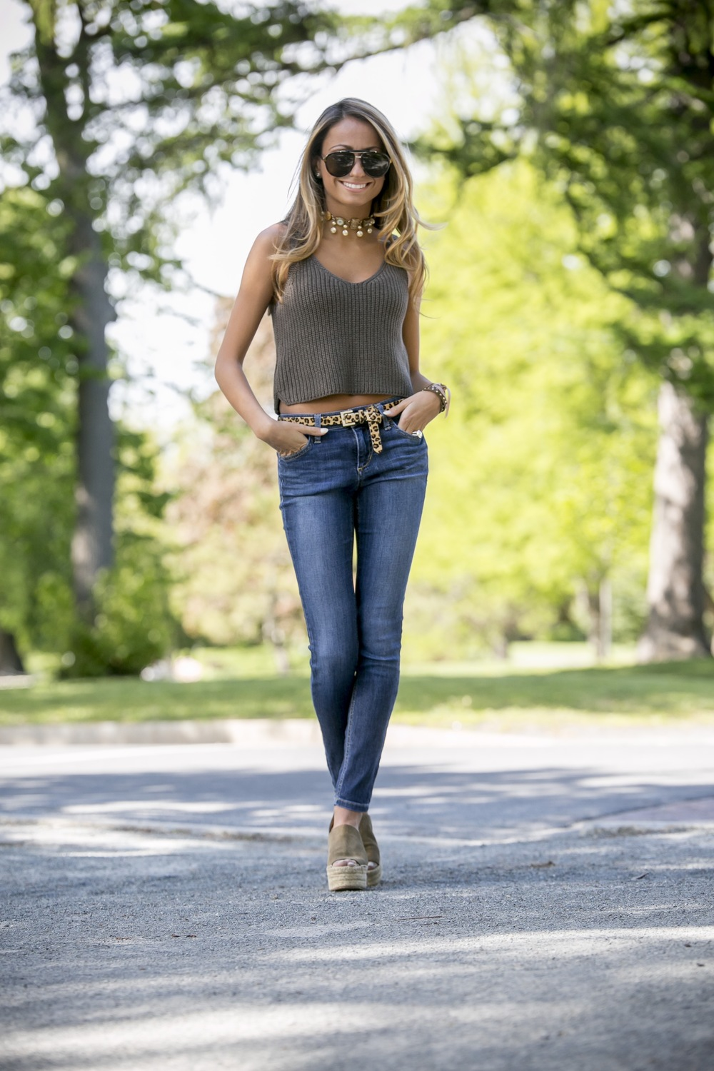Top:Intermix|Jeans:Joe's Jeans|Wedges:Chloe Dino Petrocelli Photography