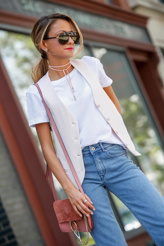 Jeans: H&M |Tee: Splendid |Vest: Asos |Sandals: MSGM |Bag: Chloe     Dino Petrocelli Photography