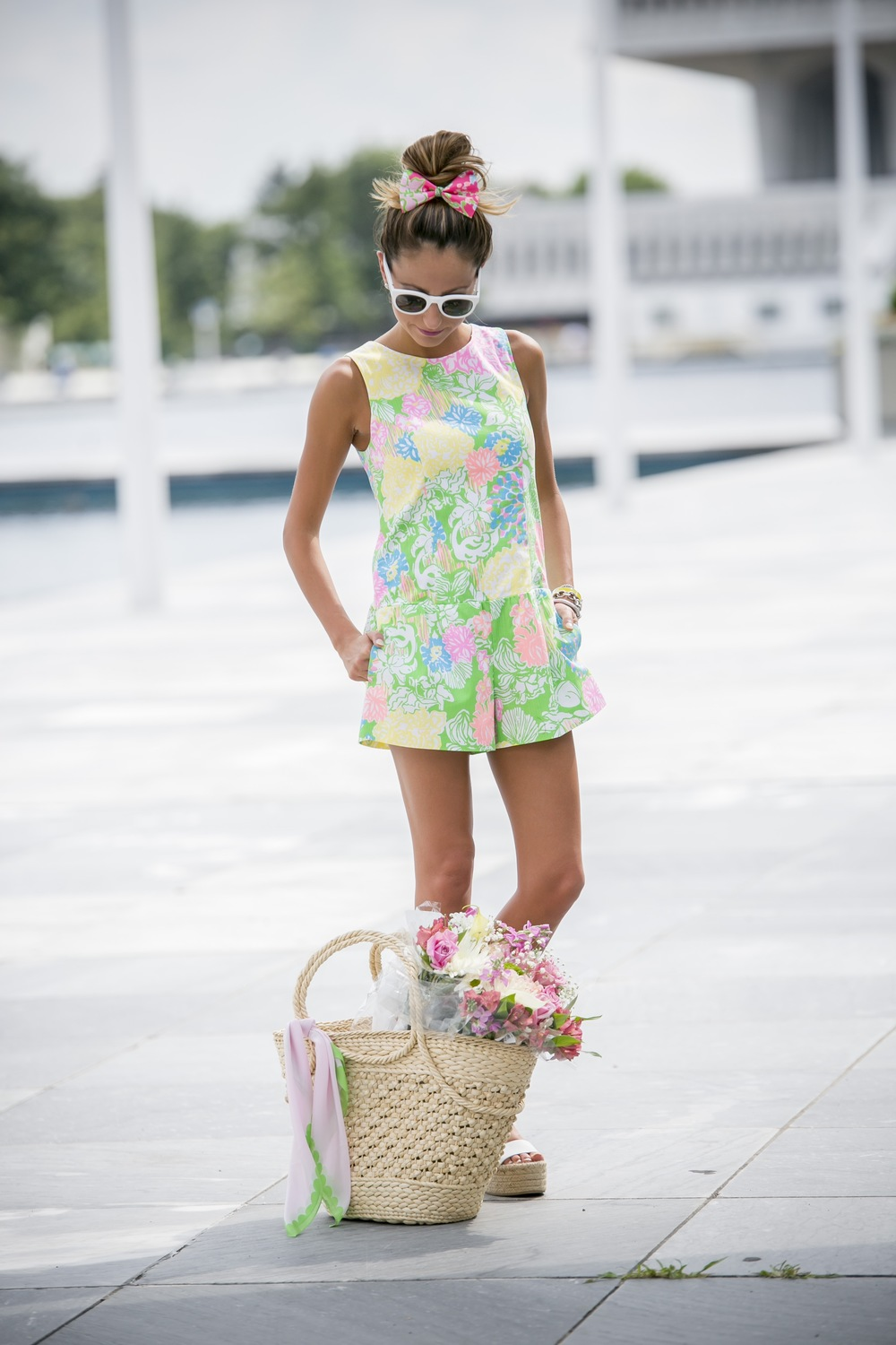 Lilly Pulitzer romper and bow