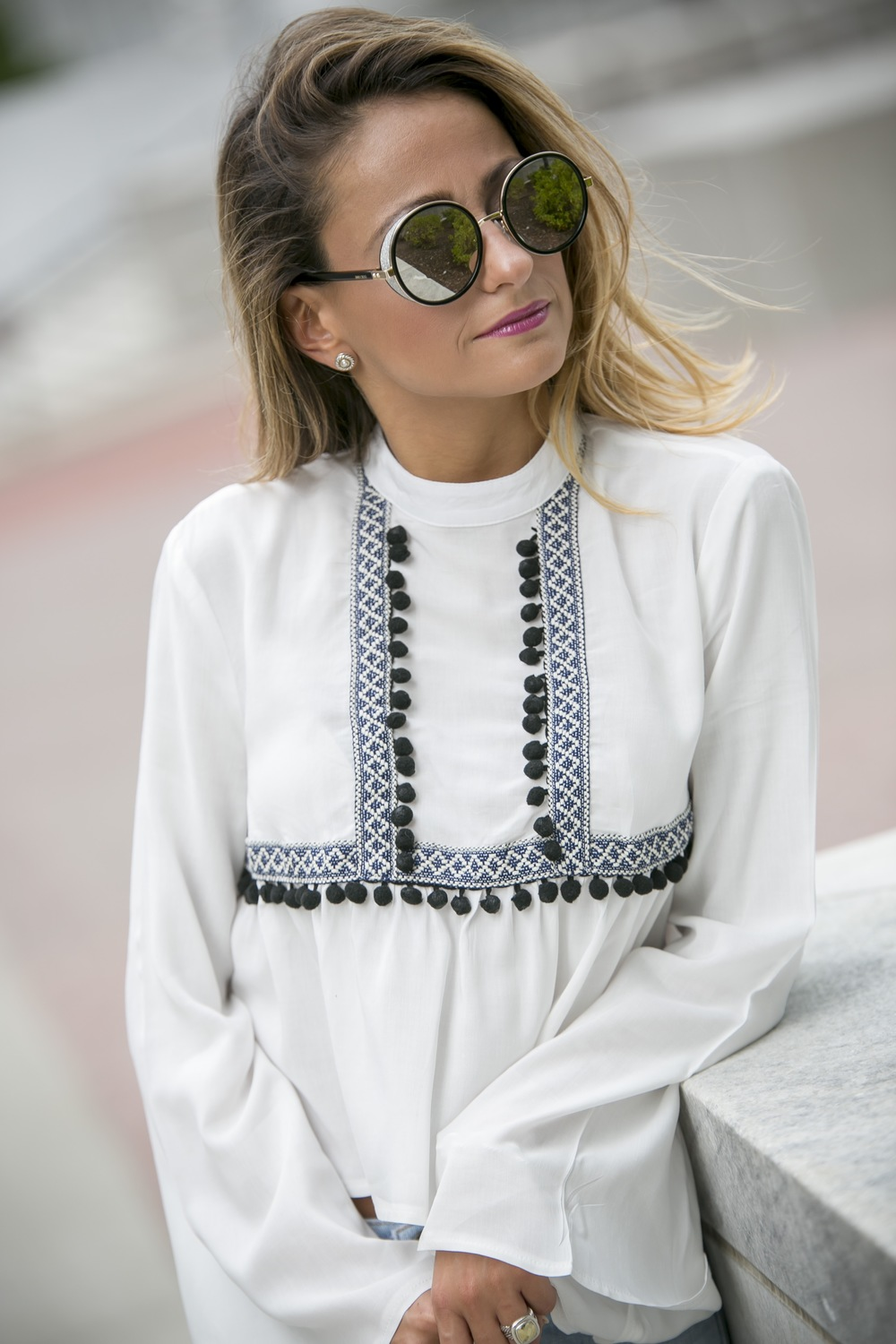 Jimmy Choo sunnies and Asos top