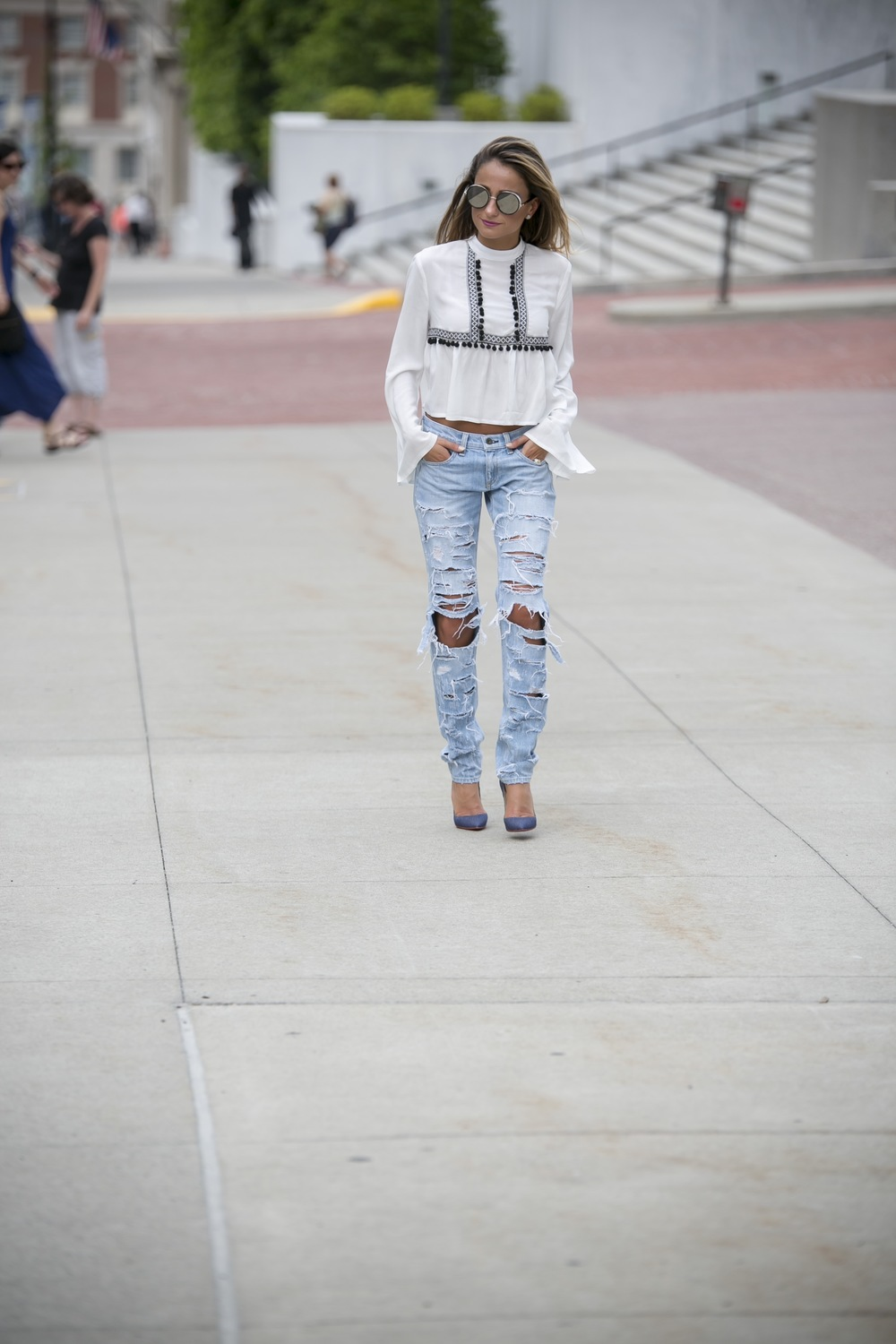 Top: Asos |Jeans: Rag&Bone |Pumps:Christian Louboutin(older)|Sunnies: Jimmy Choo     Dino Petrocelli Photography