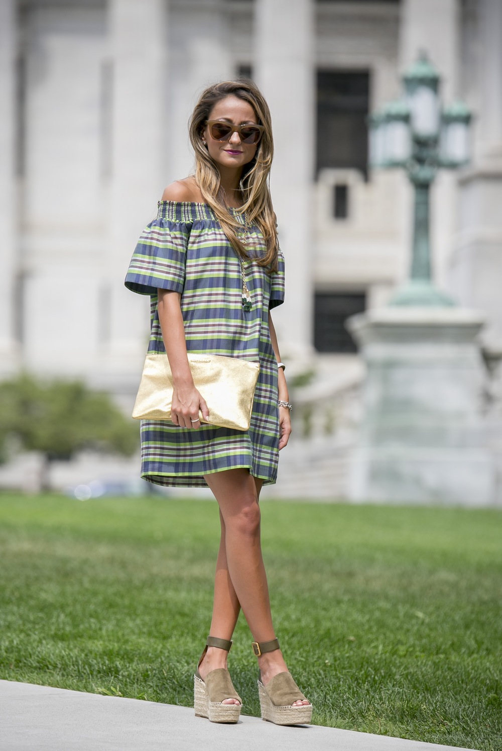 J.Crew off of the shoulder dress
