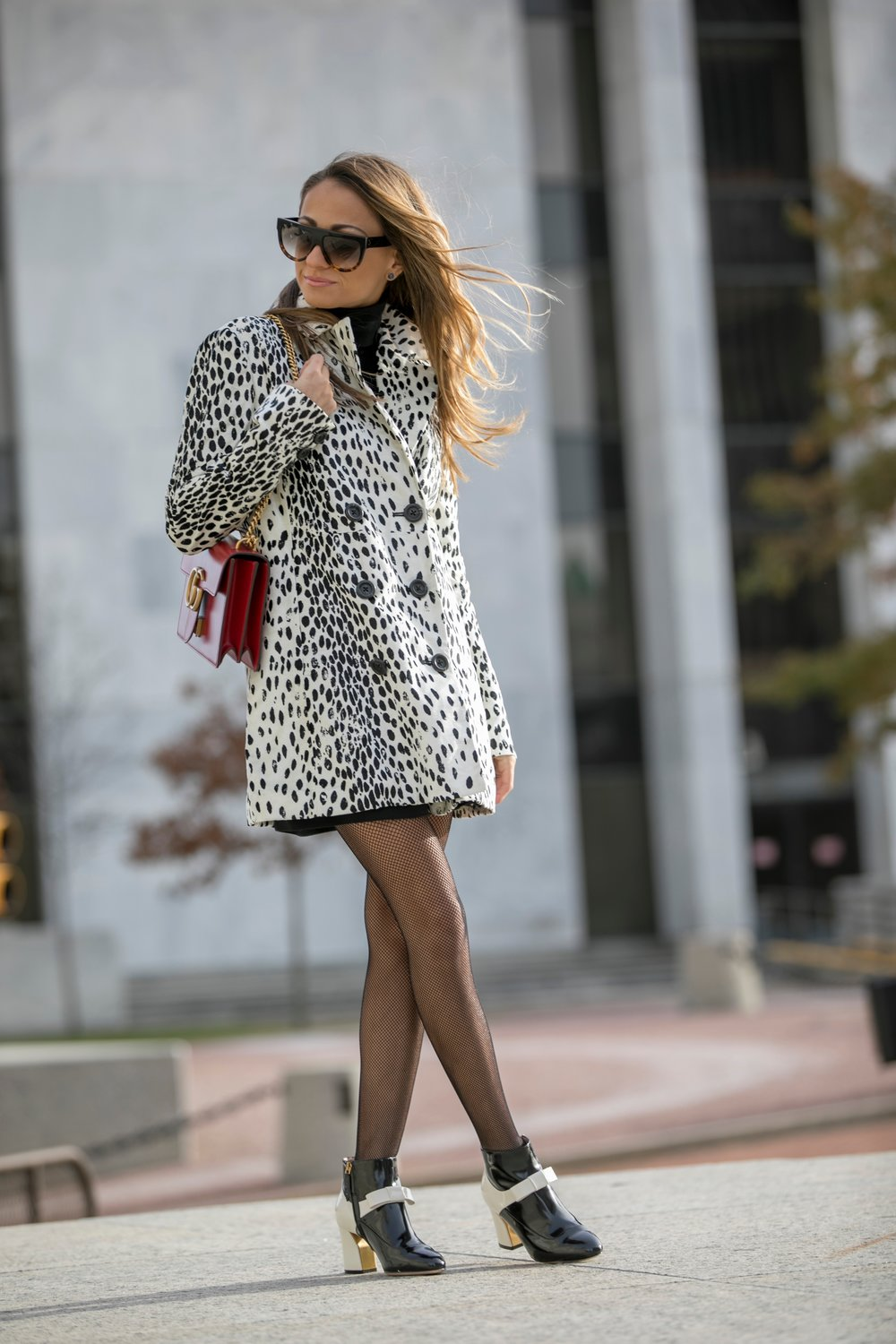 free people leopard coat