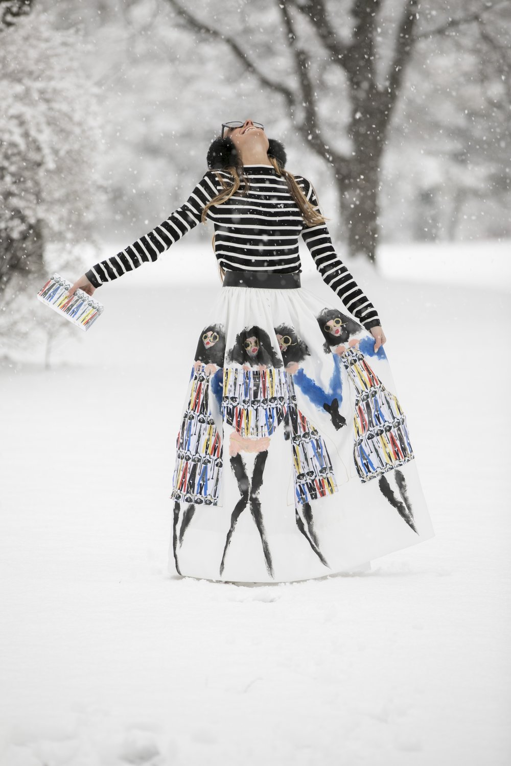 catching snowflakes in alice and olivia