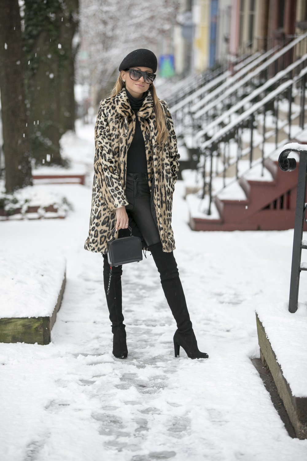 alice and olivia leopard faux fur coat
