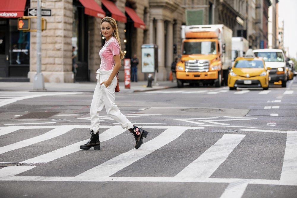 Top: Tibi  |Pants: Theory |Boots:Louis Vuitton   Dino Petrocelli Photography