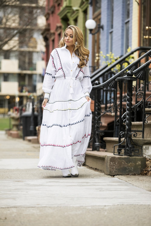 Dress:  Carolina K |Boots:  Jeffrey Campbell |Earrings:  Baublebar     Dino Petrocelli Photography