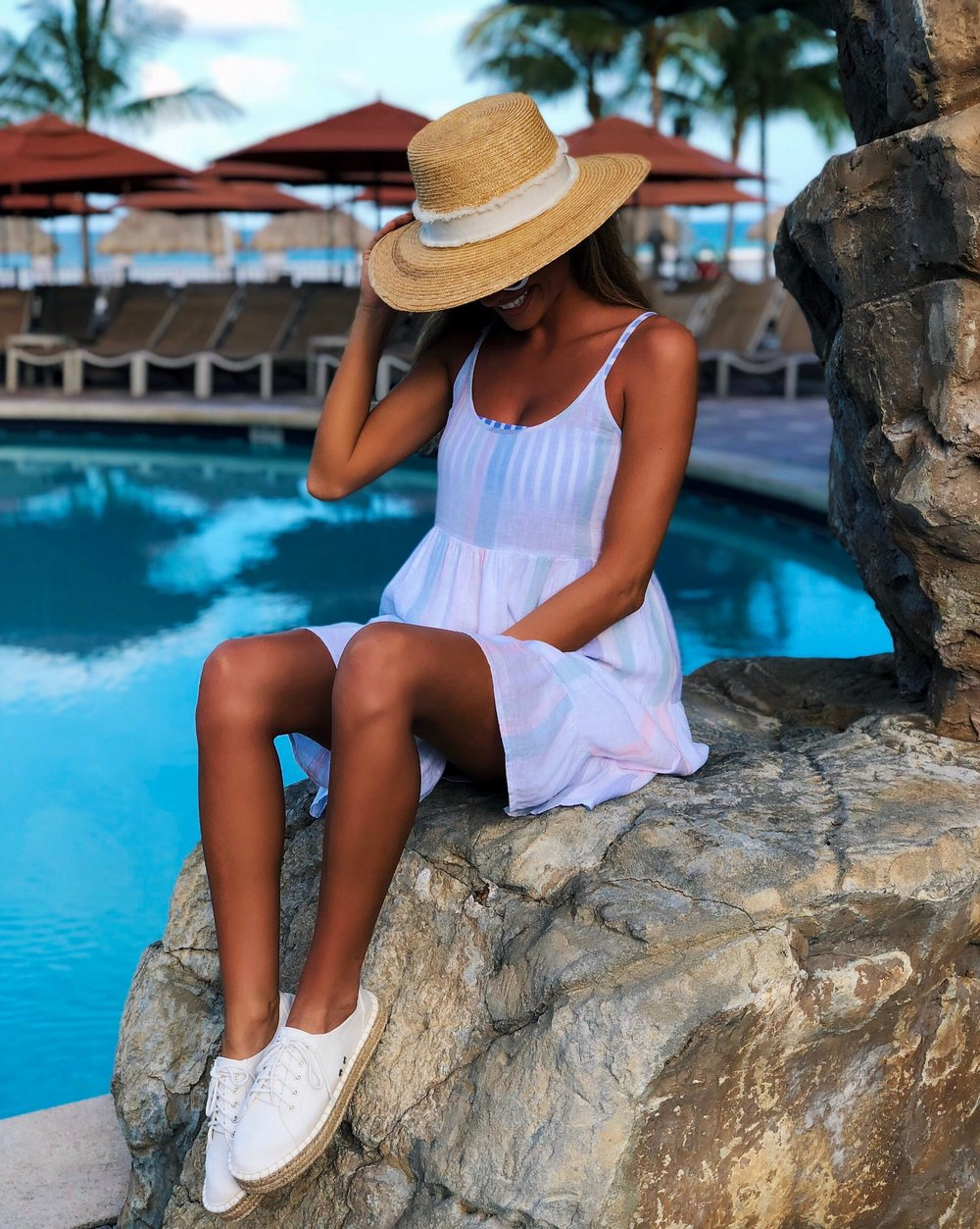 Dress:   Rails  | Espadrille Sneakers:   Shoedazzle