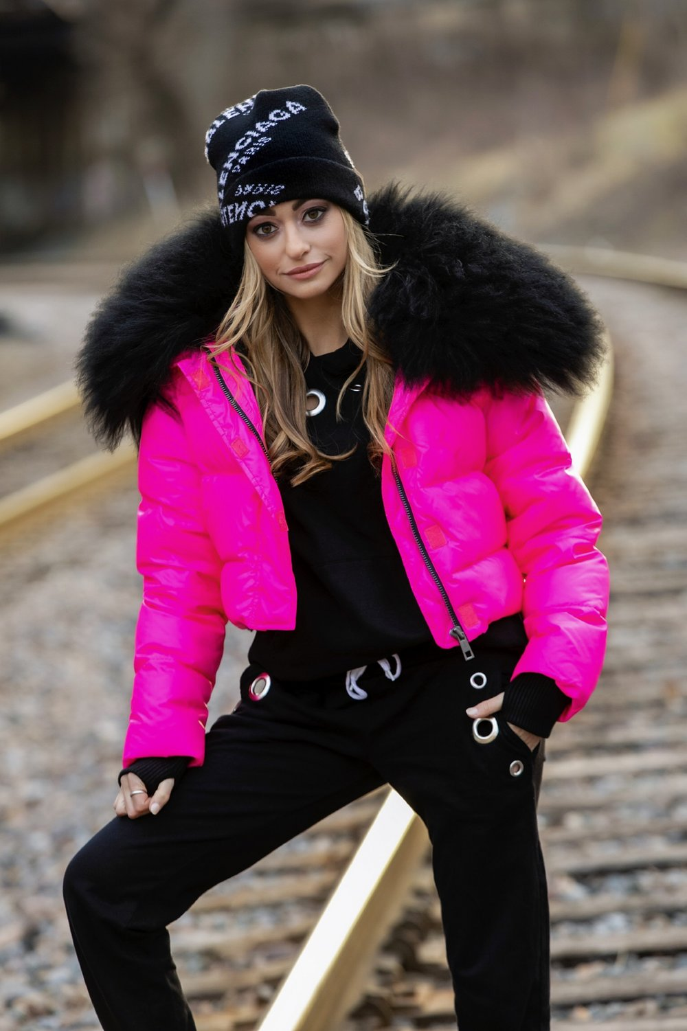 Jocelyn Fur puffer jacket