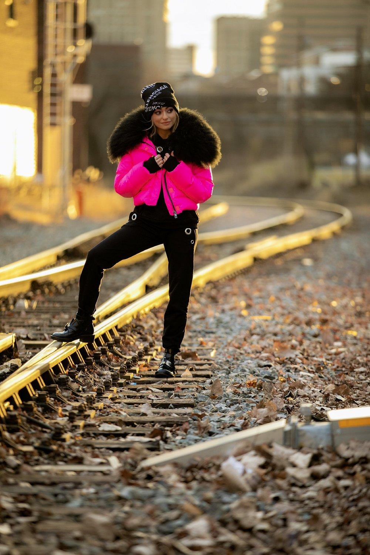 Jacket:Jocelyn (  similar  )| Monrow   Hoodie  /Sweats (  similar  )| Boots:  Balenciaga  | Beanie: Balenciaga (  similar  )   Dino Petrocelli Photography