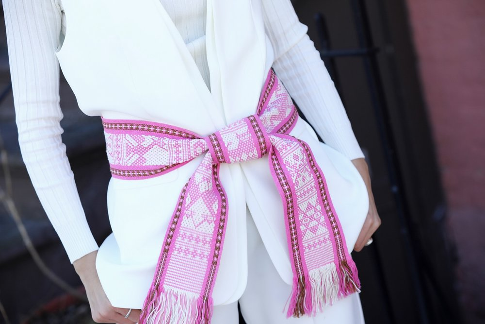 Kaftan pink belt by Pippa Holt