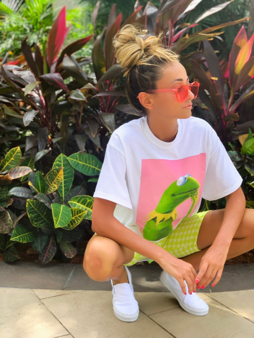 Tee:   Urban Outfitters  | Shorts:   Urban Outfitters  | Sneakers:   Vans  | Sunnies:  Free People  (older)