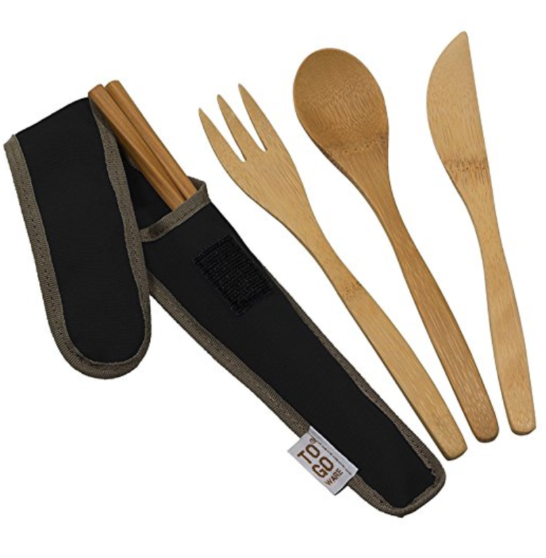 TO-GO WARE BAMBOO TRAVEL UTENSILS - FOUR PIECE SET