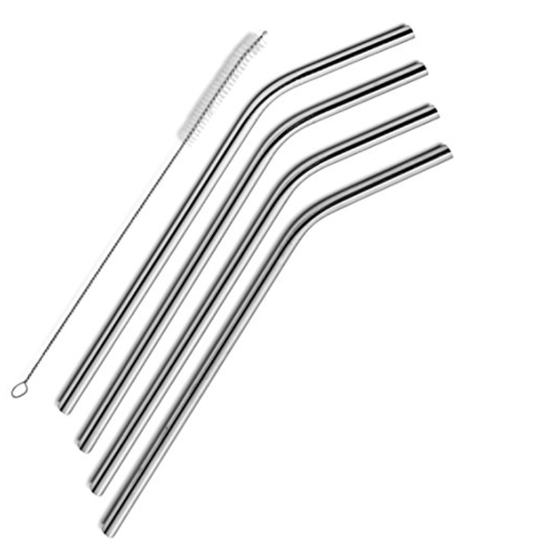 Stainless Steel Drinking Straws  - Set of Four