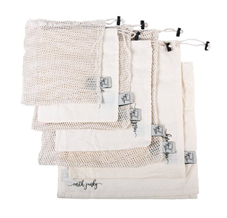 ORGANIC ECO RE-USEABLE BAG - 7 PIECE SET