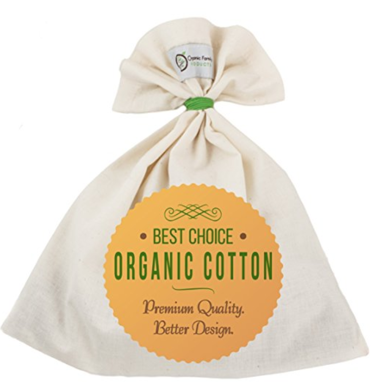 ORGANIC COTTON NUT MYLK BAG - NATURAL + ECO FRIENDLY