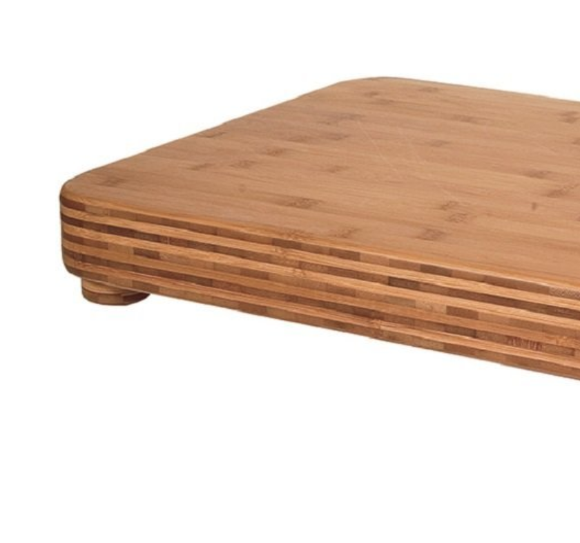 ORGANIC BAMBOO CUTTING BOARD - 24 X 18 X 3 INCHES