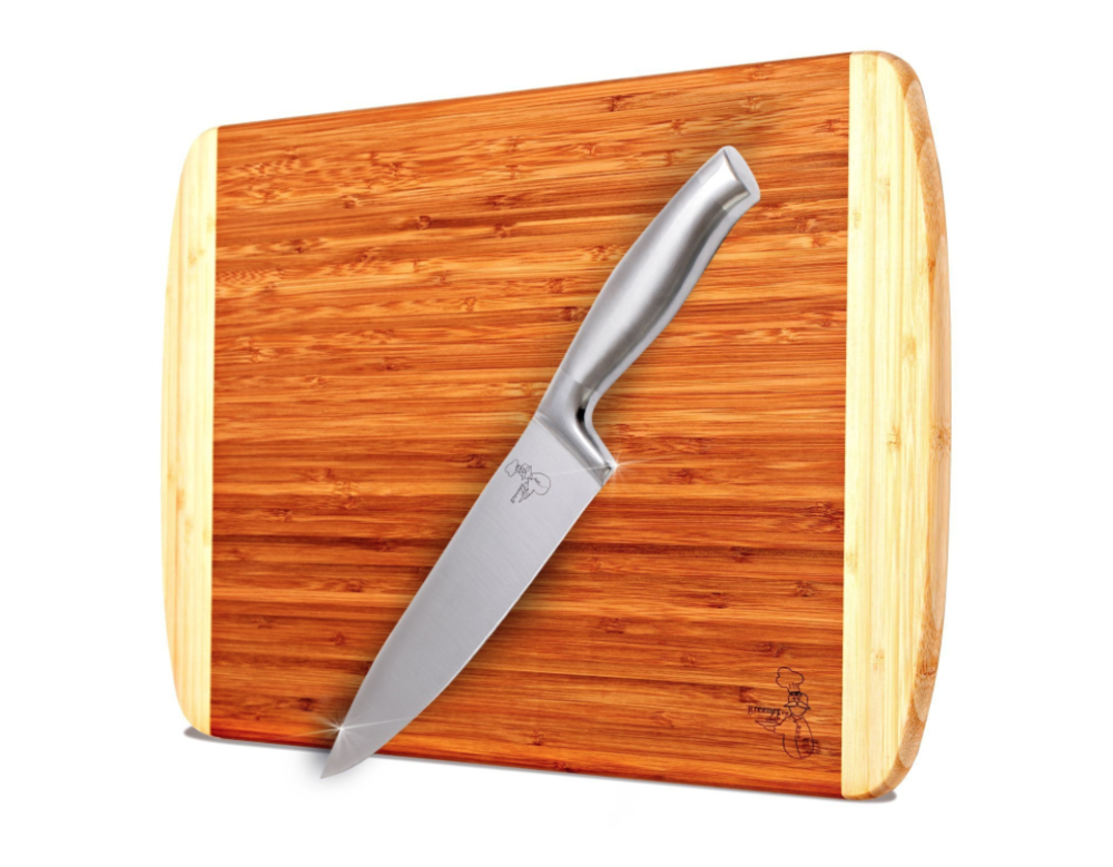 ORGANIC BAMBOO CUTTING BOARD - 18 X 12 INCHES