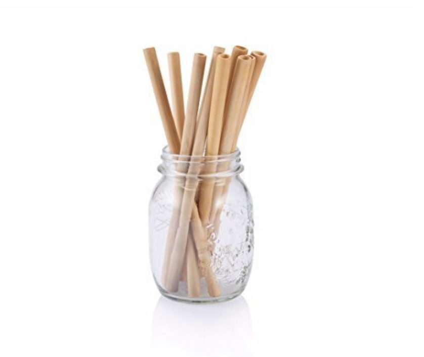 BAMBOO DRINKING STRAWS - 10 RE USEABLE STRAWS