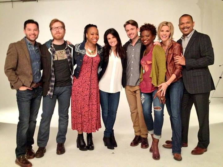 Jason Tam, Anthony Rapp, Tamika Lawrence, Idina Menzel, James Synder, LaChanze, Jenn Colella, Jerry Dixon of IF/THEN.