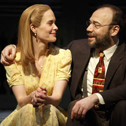 Sarah Paulson (Sally Talley) and Danny Burstein (Matt Friedman) in Talley's Folly .