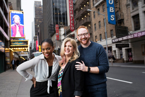 Danyel Fulton, Melissa Anelli, and David Alpert.  Photo in the New York Times for BroadwayCon.