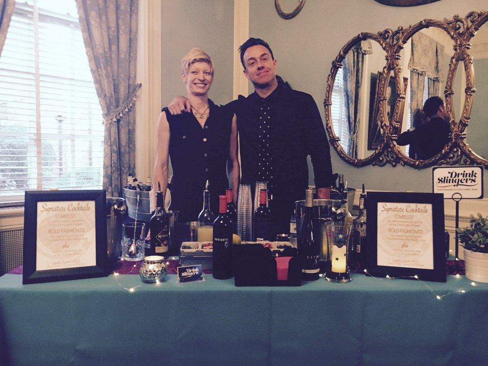 Drink Slingers Event Bartender Rose & Justin