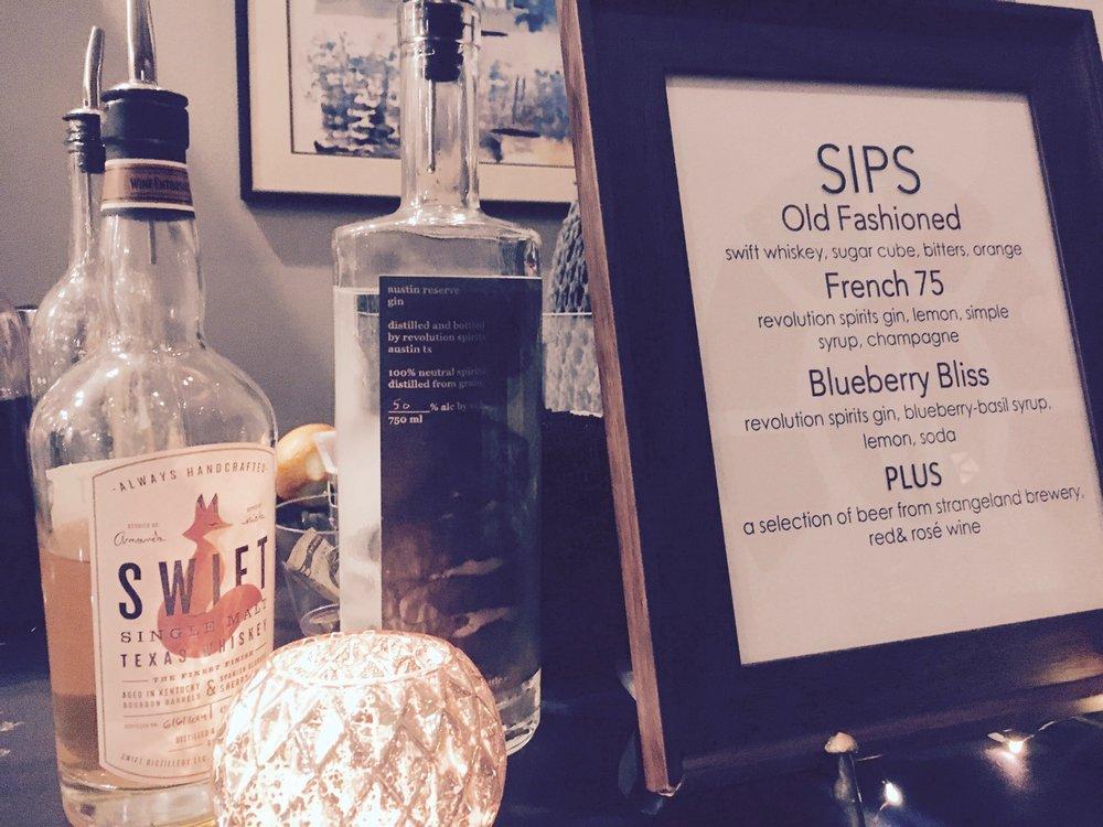 Drink Slingers Event Bartenders Menu