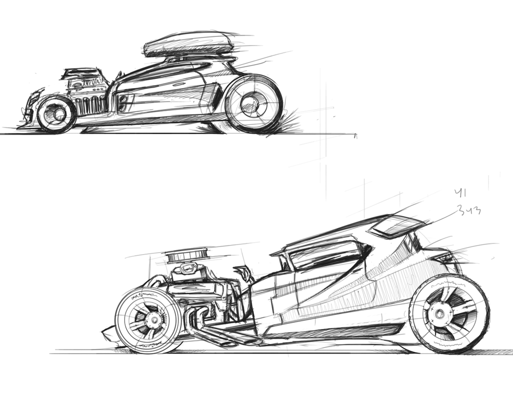 Hot Rod Sketches
