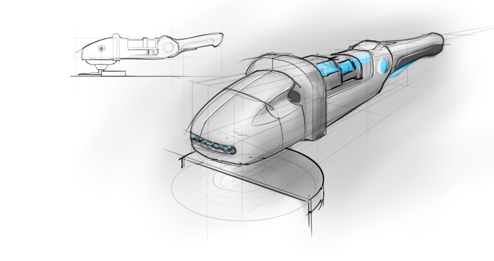 Sketchbook Pro angle grinder quick one ~15 minutes