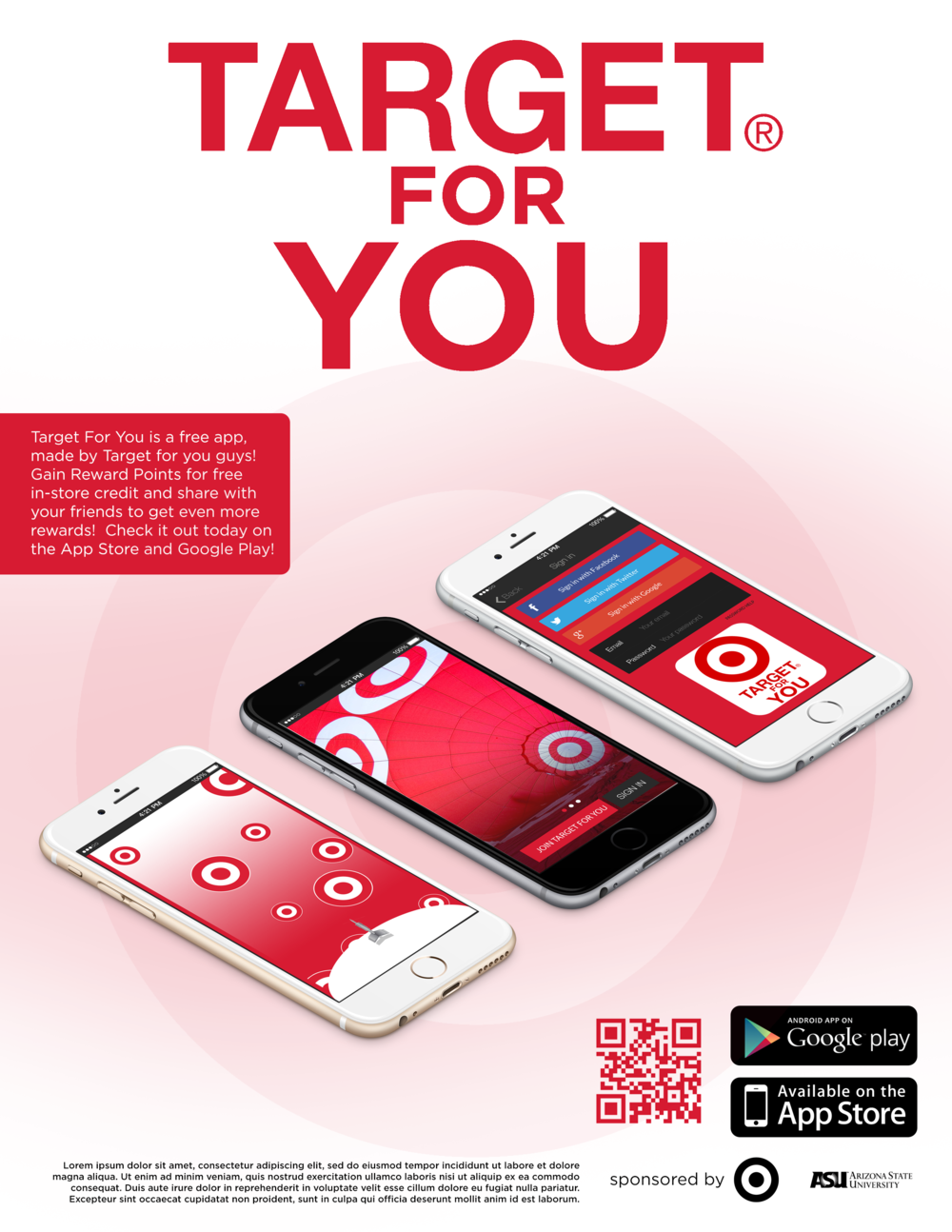 This is a Target print ad that I designed for a new marketing campaign idea.