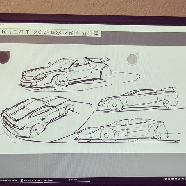 Some more cars! #wacom #sketchbookpro #autodesk #drawing #cardrawing #designsketching #industrialdesign