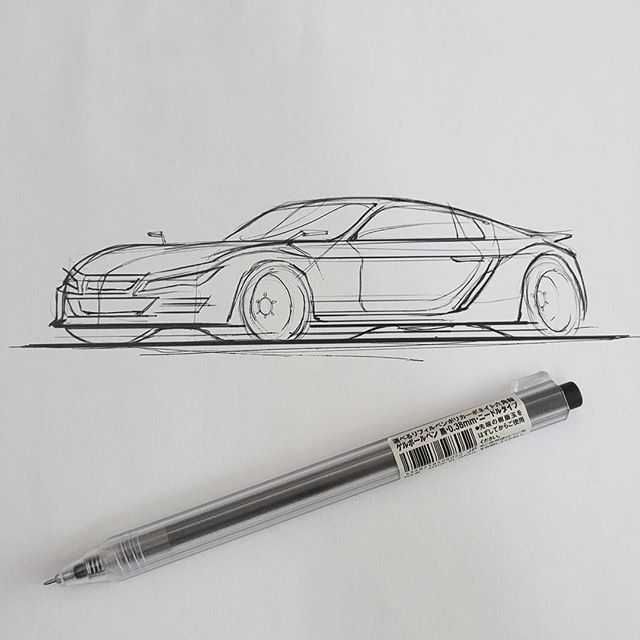 Quick one at work  #inktober #carsketching #idsketching #industrialdesign #drawing