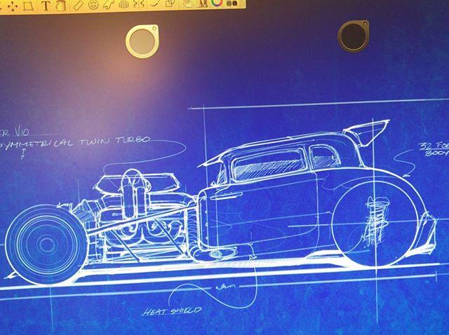 Old 32 Ford hot rod sketch #sketchbookpro #blueprints #hotrod #cardrawing #designsketching