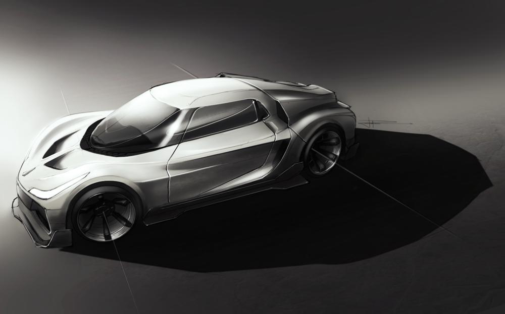 Supercar Sketch