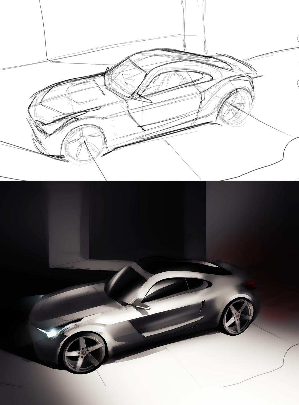 Nissan inspired render