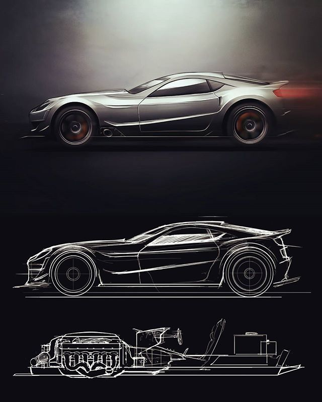 Some v12 coupe design, tried to think about the whole package - not just the body lines.  Let me know what you guys think of this one, it's a little different!  #autodesk #sketchbookpro #adobe #photoshop #wacom #intuos #carsketching #transportationdesign #cardesign #industrialdesign #asuidsa #v12 #designsketching #drawing #art #painting