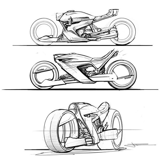 More bike stuff, not too sure how turning would work with these, some sort of actuator push/pull system?  Rough crazy concepts, just having some fun let me know what you think! #sketchbookpro #autodesk #wacom #bikedesign #bikeconcept #industrialdesign #conceptual #hubless #transportationdesign #asu #idsa