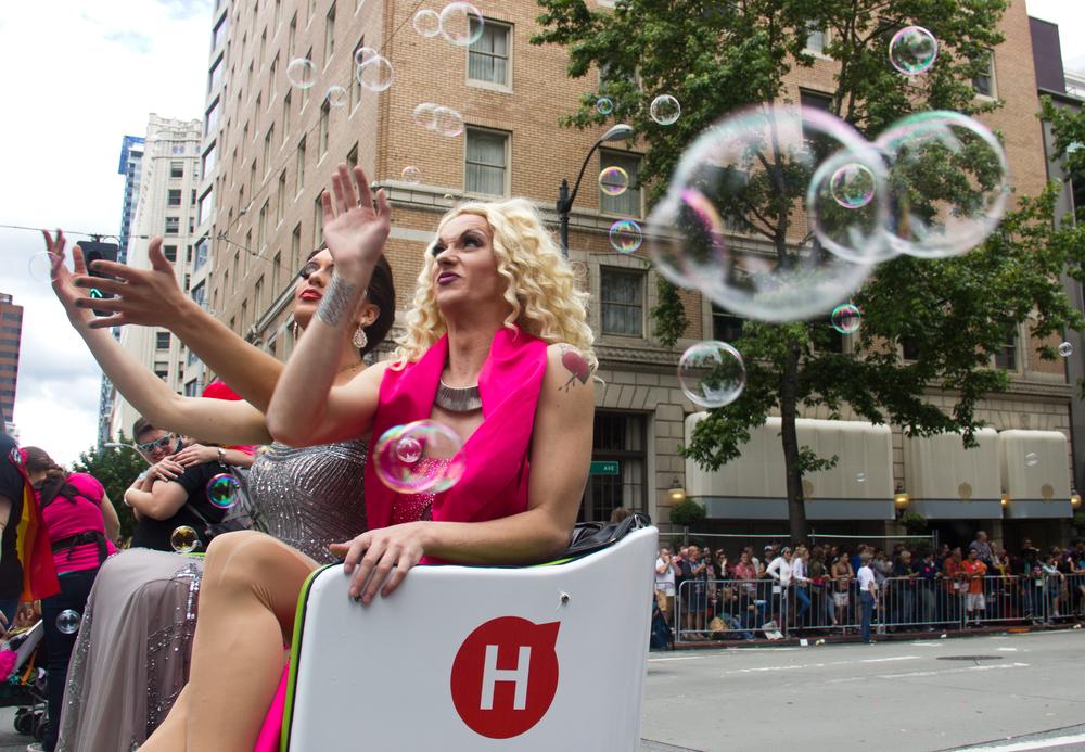 Pride FestivalParade in Downtown Seattle on Saturday, June 28, 2014.