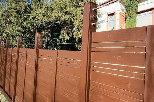 Wire Mesh & Cable Fencing — Harwell Design - Fences, Driveway Gates ...
