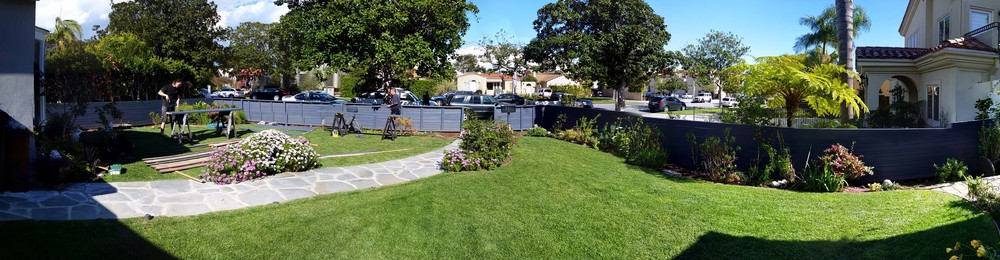 Panorama of the Front and Side Yard