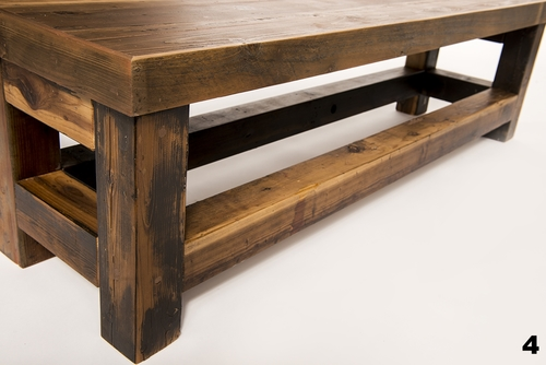Reclaimed Wood Bench - Reclaimed Wood Bench €� Harwell Design - Fences, Driveway Gates