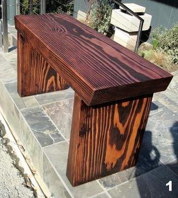 Douglas Fir Plank Bench