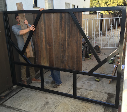 Iron Gate Steel Fence Los Angeles Gate Metal Fence