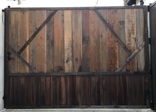 Driveway gate Reclaimed wood.JPG
