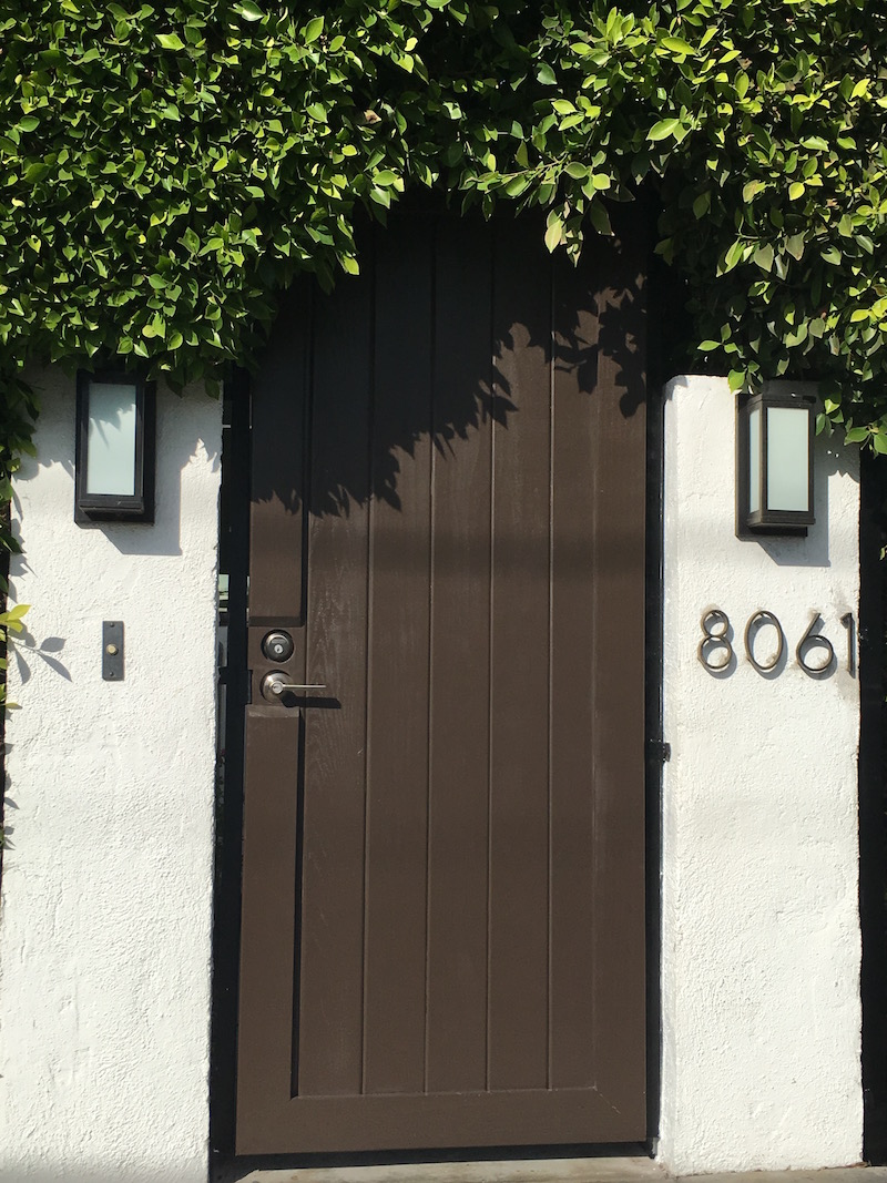 Custom wood gate - LA - Door Locks