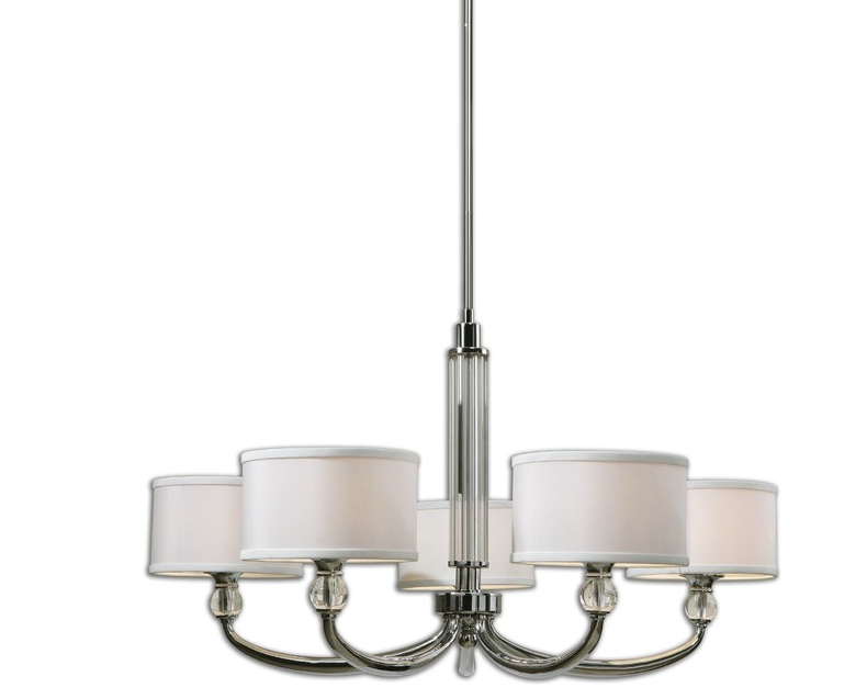 Uttermost Vanalen 5 Light Chrome Chandelier